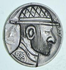 Rare - 1930's - Hand Engraved - Hobo Nickel Buffalo - Highly collectible