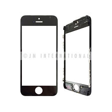 iPhone 5C Outer Lens Touch Screen Lens Glass + Frame Black Replacement Part USA