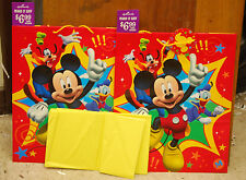 Set of 2 Hallmark XL Mickey Mouse Gift Bags w/Tissue Paper