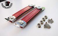 Accordion Bellow Straps Red w/Hardware Pair Balghalter Balgriemen