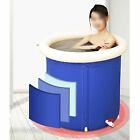 Portable+Bathtub+Inflatable+Water+Tub+Folding+Adult+Spa+Bath+Bucket+Indoor+Blue
