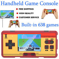 Retro Classic 8-Bit Portable Gaming Console Controller Gamepad with 638 Game