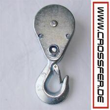 UMLENKROLLE mit HAKEN max. 250kg für SEILZUG Flaschenzug Seilrolle CROSSFER