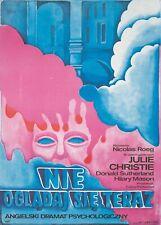 Original Vintage Poster Polish Film Don't Look Now J. Christie Donald Sutherland