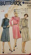 Vtg Butterick pattern 3930 Misses' Vest & button front Dress size 8 bust 31-1/2
