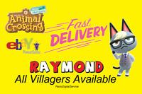 Animal Crossing New Horizons Horizon Raymond Habitant Villager Pet