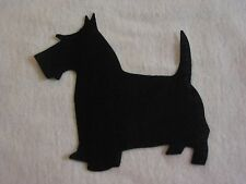 8 Black Scottie Dog Sew Iron On Quilt Die Cut Applique - Can do Reversed Pairs