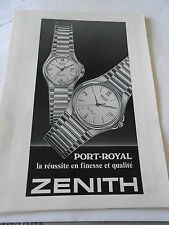 Publicité 1985  Montre Zentih Port Royal  AD