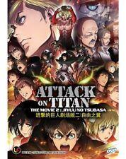 DVD Anime Attack On Titan The Movie 2 Jiyuu No Tsubasa English Sub + Free Anime