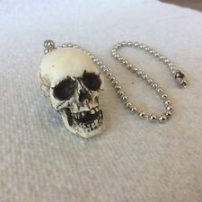 Made in USA Skull Skeleton head Fan Light Pull chain goth punk #17-FP
