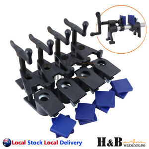 """4 Sets Heavy Duty 3/4"""" H Style Gluing Pipe Clamp Woodworking Tools Clamp Pads"""