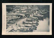 Vietnam Indo-China Sino-Annamite Long-Tchéou Pont de bateaux c1902 u/b PPC