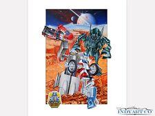 Tonka Toys 80s Gobots Giclee Print Poster Artwork Art Illustration Battle Scene