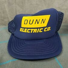 Dunn Electric Co Vintage Mesh Snapback Trucker Hat Cap Blue 9a8b2a39abb0