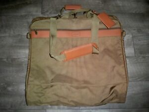 Hartmann Travel Luggage Folding Clothing Clothes Garment Nylon Leather Bag Pack