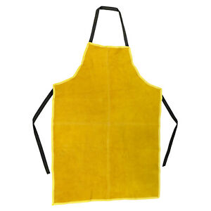Adjustable Leather Welding Apron 23 x 35 Tie Straps Protective Work Clothing