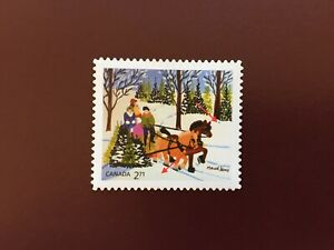 Canada Booklet Stamp- 2020 Christmas MAUD LEWIS Booklet Stamp w/ DOUBLE ERROR