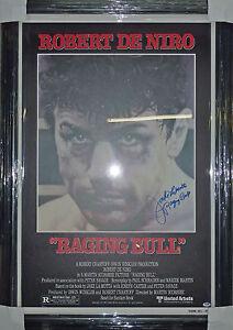 """Jake LaMotta HOF 1980 Raging Bull Signed Framed Movie Poster PSA/DNA COA 31x45"""""""