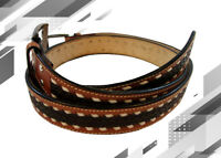 WESTERN MENS BELT LEATHER FLORAL TOOLED FASHION 32 34 36 38 40 42 42 44 46 48 50