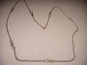 Wonderful Estate .925 Sterling Silver Diamond Necklace
