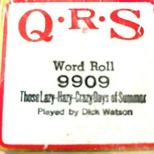 QRS Pianola Roll 9909 LAZY HAZY CRAZY DAYS OF SUMMER played by Dick Watson NIB