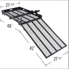 """500# TRAILER HITCH WHEELCHAIR OR SCOOTER CARRIER WITH 42"""" LOADING RAMP"""