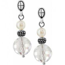 NWT Brighton SOHO White Pearl Crystals Earrings MSRP $38