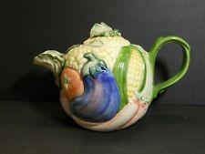 Vintage1986 Fitz & Floyd Vegetable 1 1/4 Qt Tea Pot
