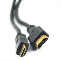2m HDMI Mini Type C Male to Standard Male Cable Lead Full HD 1080p Gold 3D TV HD