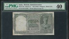 INDIA Paper Money - Old 5 Rupees Note (1943) P23a - PMG XF40