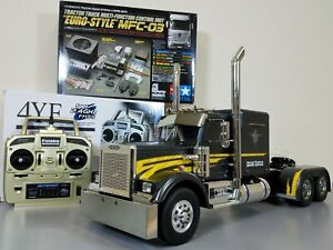 Tamiya 1/14 RC Grand Hauler + Futaba 2.4GHz + MFC-03 LED & Sound +Aluminum Parts