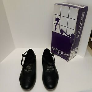"""Tic Tac Toes """"Sylvia"""" Character, Swing, Square Dance Shoe, black. 9"""