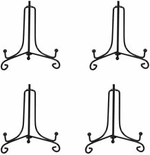 (4 Pack) Iron Display Stand, Black Iron Easel Plate Display Photo Holder Stand,
