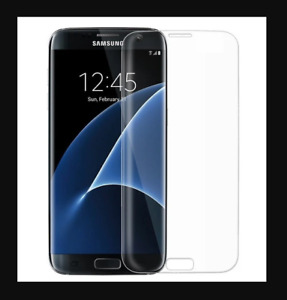 Samsung Galaxy S7 Edge Full Cover Tempered Curved Glass CLEAR Screen Protector
