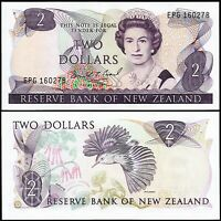 New Zealand 2 Dollars 1989-1992, UNC, P-170c, Sign :D.T.Brash
