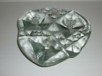 Vintage Blenko Handmade Ice Art Glass Design 3 Taper Candle Candlestick Holder