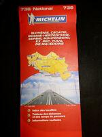Carte michelin orange 736 region slovenie croatie bosnie herzegovine...   2009