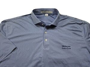 Holderness Bourne Medalist Golf Performance Polo Tailored Fit Large Blue White