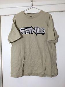 Etnies Mens Beige T Shirt Size L Good Condition