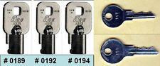 Vendstar 3000 Backdoor Keys # 0189, # 0192, # 0194+ Top Lock Keys 157, 159