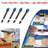 4 Set 5 Second Glass Welding Compound Glue UV Light Quick Fix Liquid Repair Tool