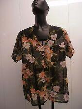 Unisex shirt flower one pocket men's see through club wear small medium sexy 90s
