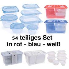 Frischhaltedosen Set 54 teilig Gefrierdosen Aufbewahrungsdosen Vorratsdosen NEU