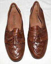 Hunters Bay Brazil Brown Leather Tassel Kilt Fringe Mens Loafers Shoes Size 10M