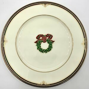 NORITAKE LADY QUENTIN CHRISTMAS HOLIDAY ACCENT SALAD PLATE, 4730