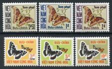 Viet Nam: 1968 Butterflies Postage Dues (J15-J20) Mint