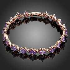 18K Gold GP Made With Swarovski Crystal Elements Rhombus Cube Bangle Bracelet