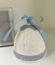 Lladro Christmas Bell 1990 - Blue/White-3 Wise Men on Horses w/ Box and Ribbon