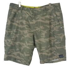 New listing Oakley Mens Size 38 Green Camo Flat Front Cargo Board Shorts
