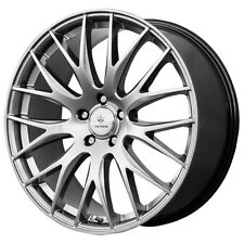 4-NEW Verde V27 Saga 17x7.5 5x120 +40mm Dark Silver Wheels Rims